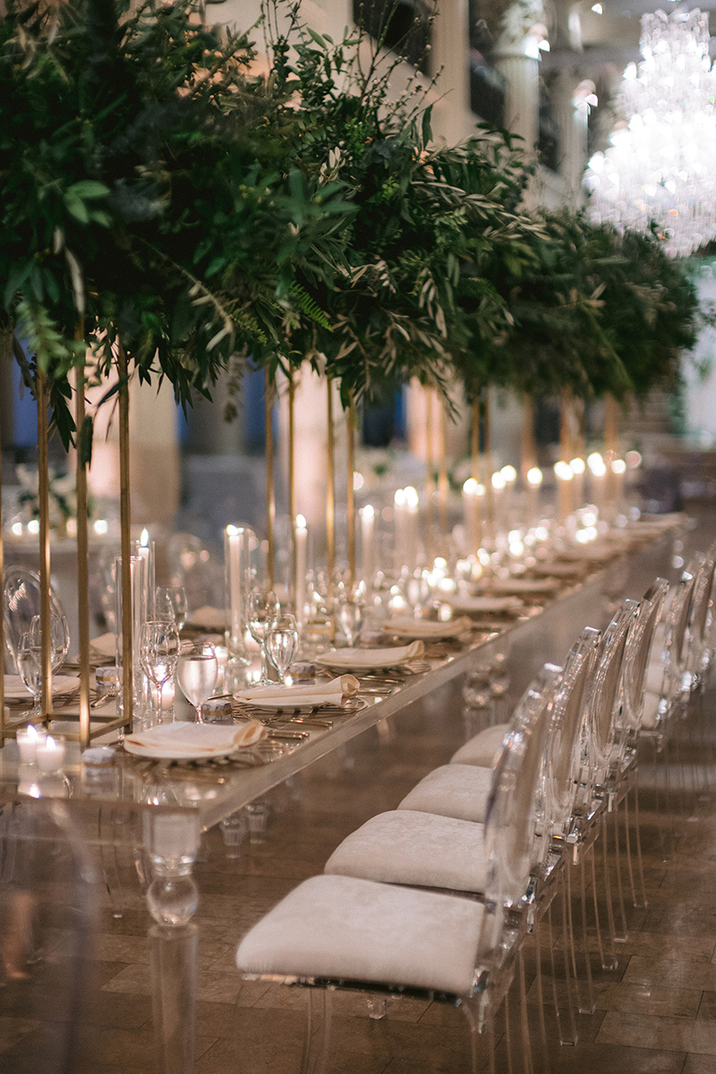 long table - decor and floral accents