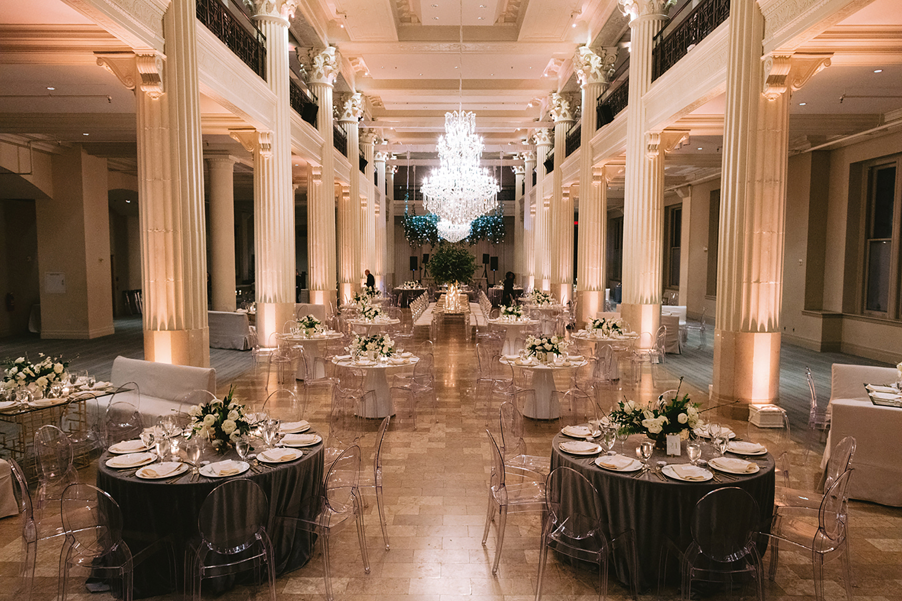 2 story wedding venue for large party - decor - gray