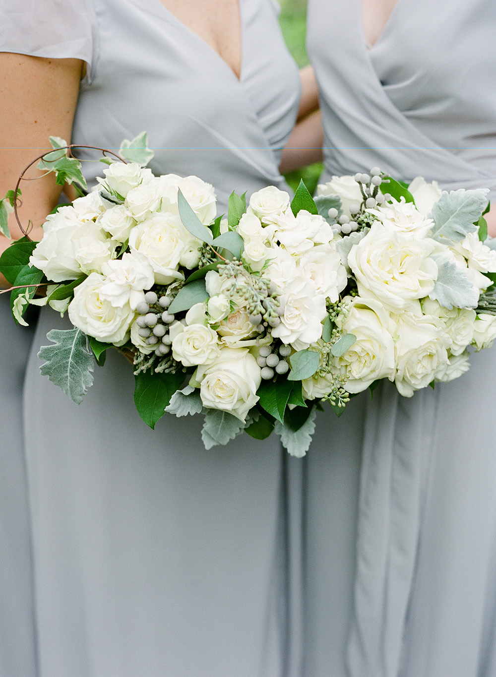 bouquet, houstonian, reception, flowers, grayhouse events, swift + co, floral, bridesmaids, dresses
