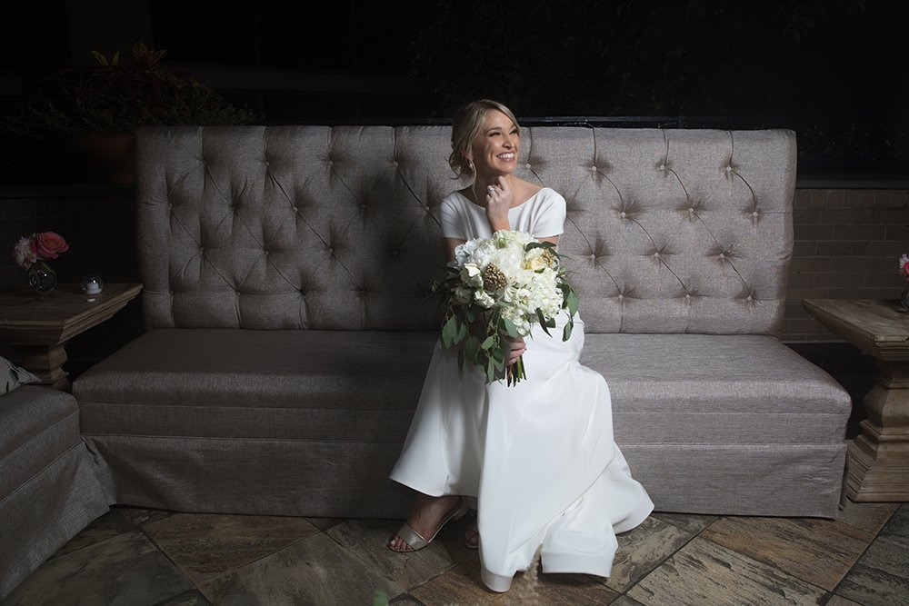 Houstonian Hotel, bridal, portrait, bouquet, todd events, couch, rentals, design, wedding, houston