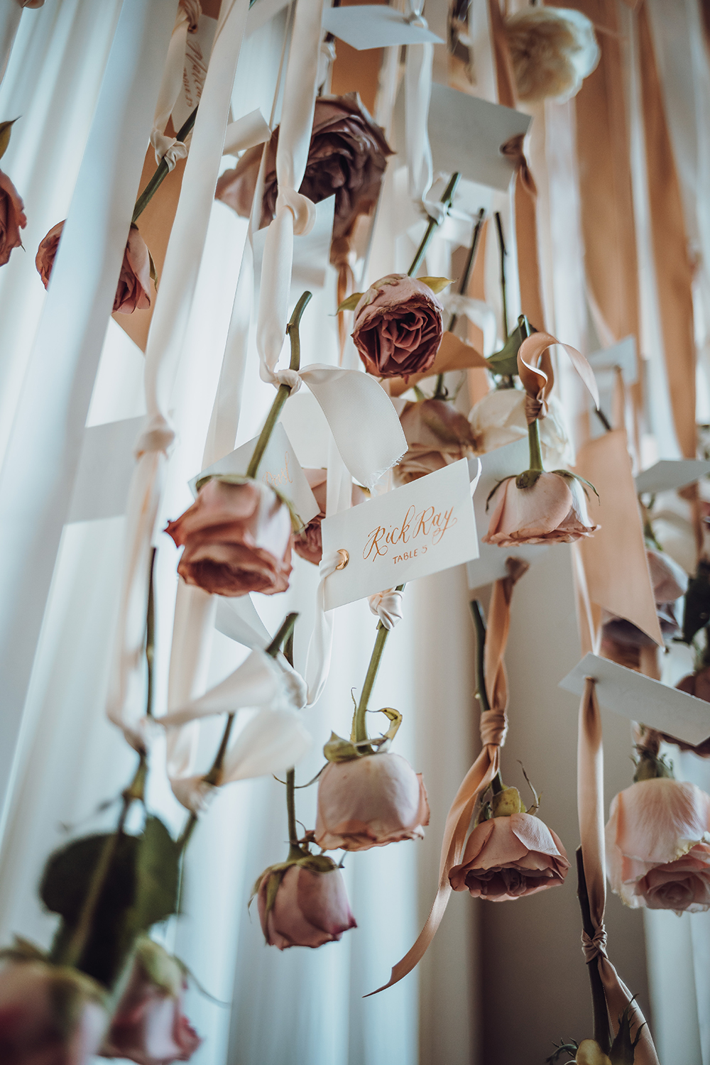 roses - seating chart - place cards