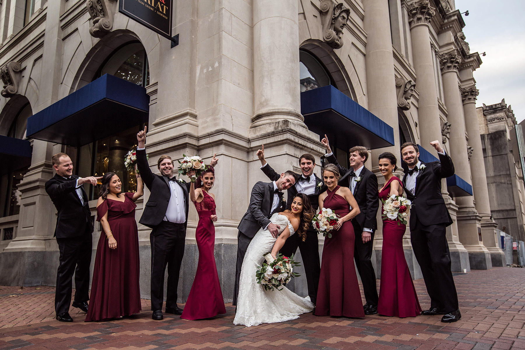 cute wedding party, bridesmaids and grooms men