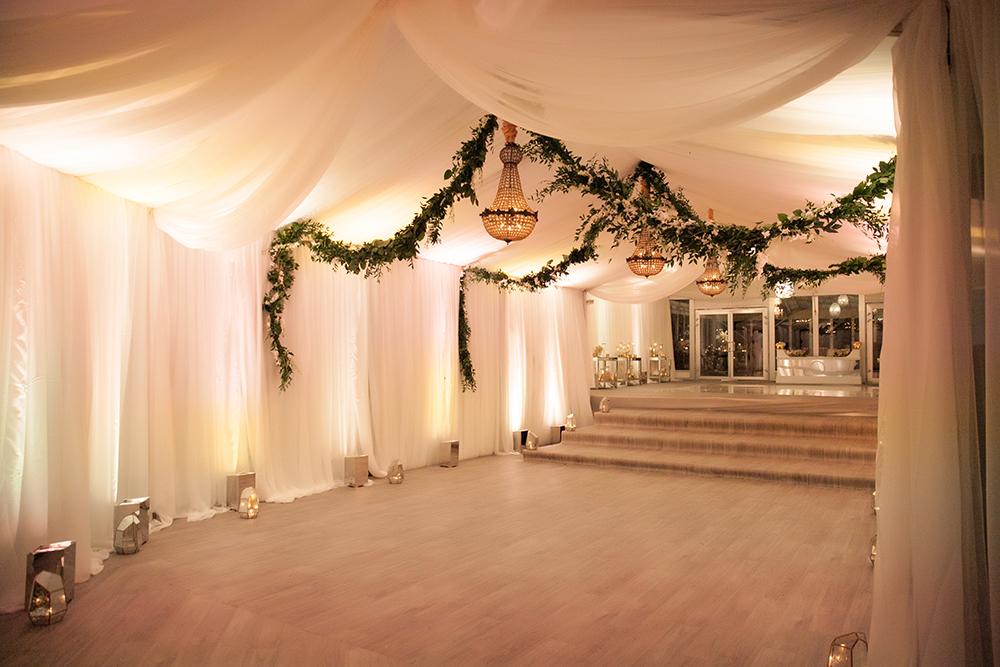 unique tented space for wedding