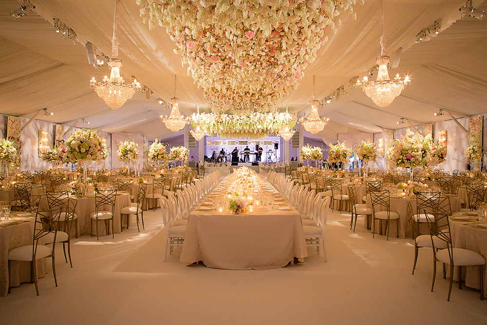 houston wedding reception decor for tent wedding by plants n petals