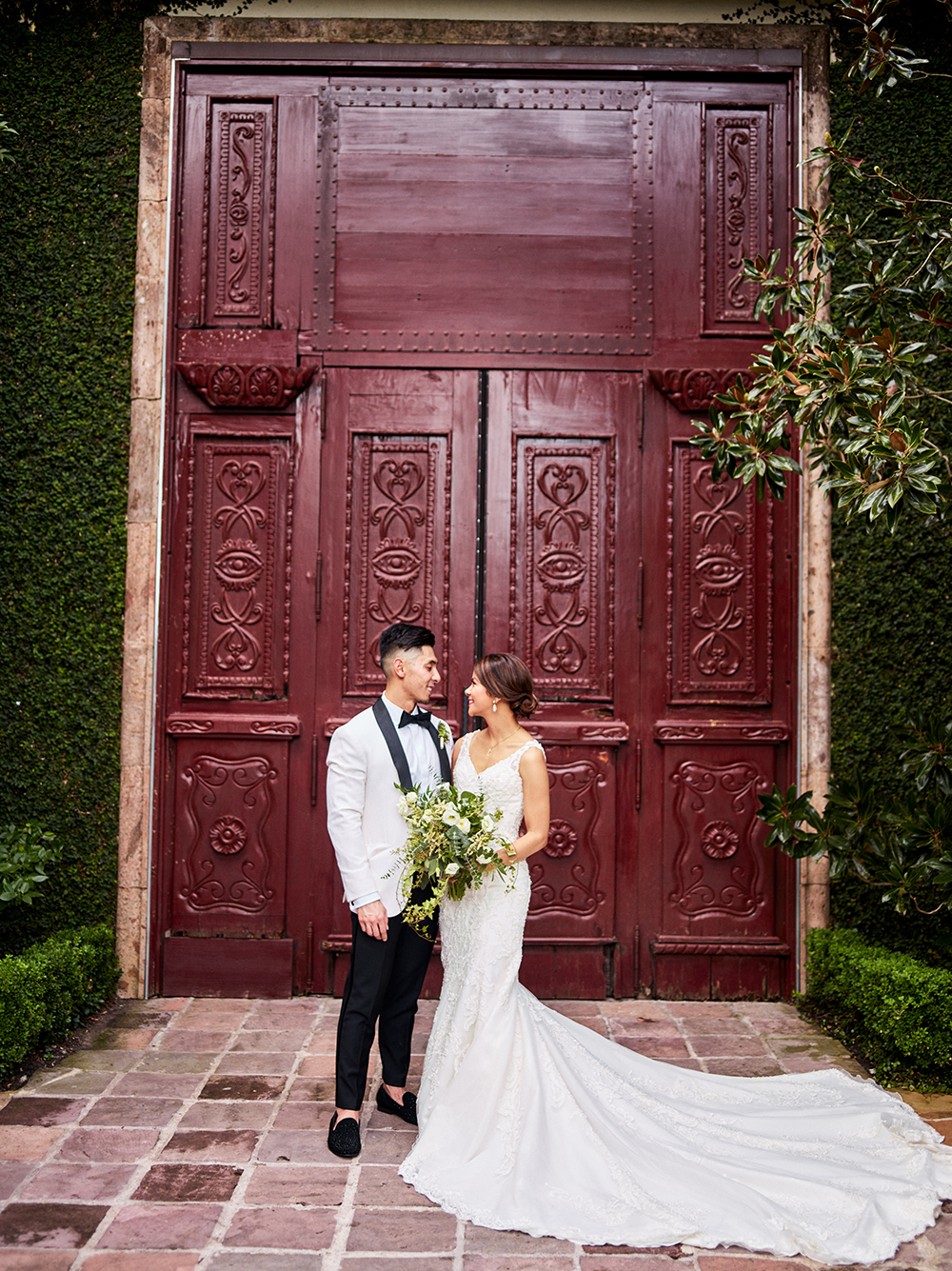 red door - wedding photography at the bell tower on 34th