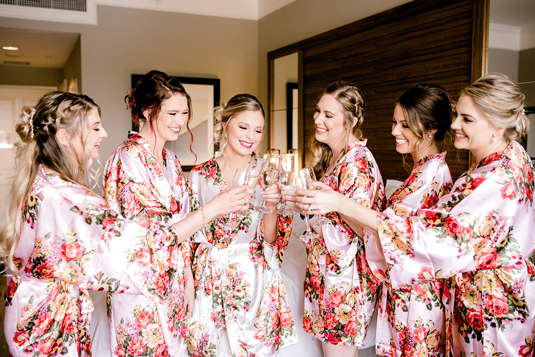 houston, texas, country club wedding, Blush, gold, The Woodlands, lace, bridesmaids, Cakes by Gina,