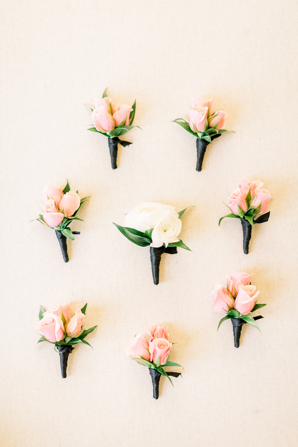 cute floral flatlay - flowers - boutonnieres