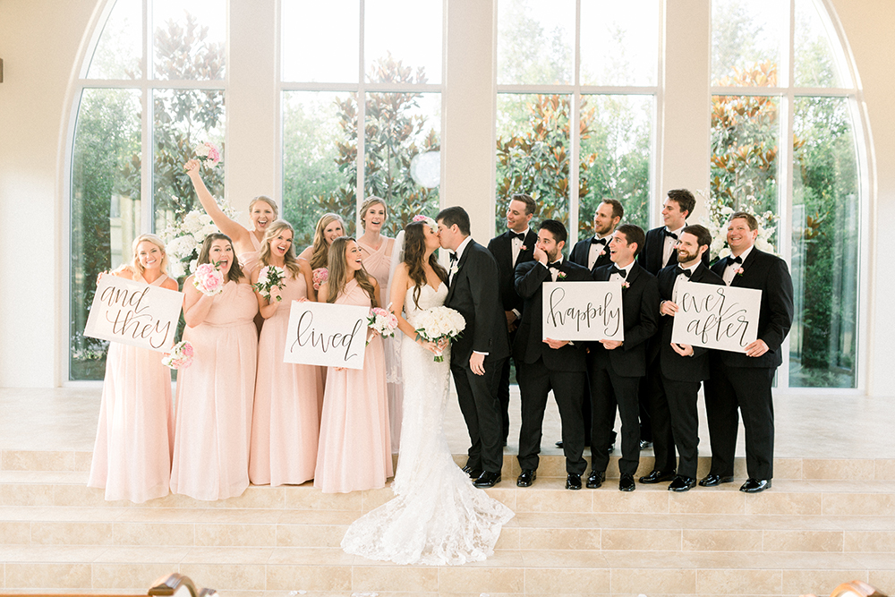 cute signs for wedding party photos - houston