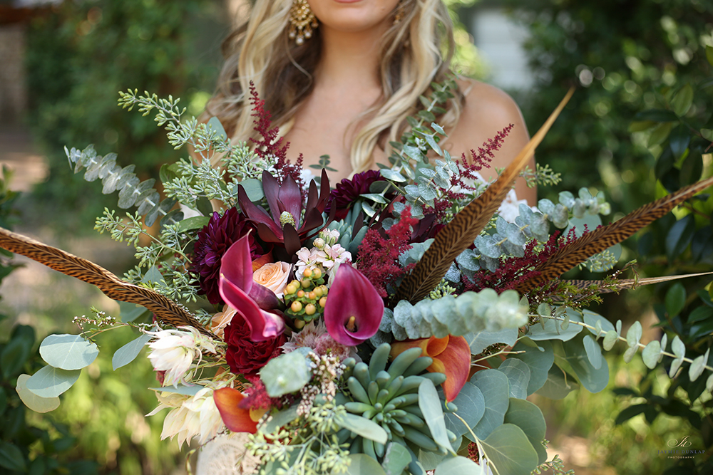 bridal bouquet - rustic