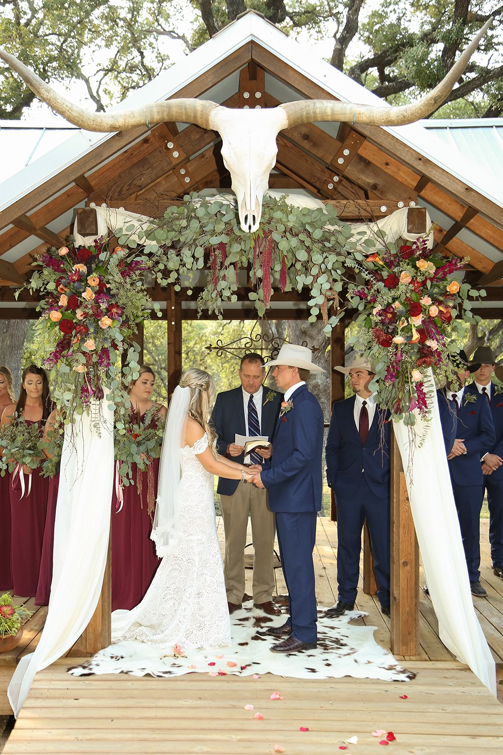 outdoor wedding ceremony - rustic