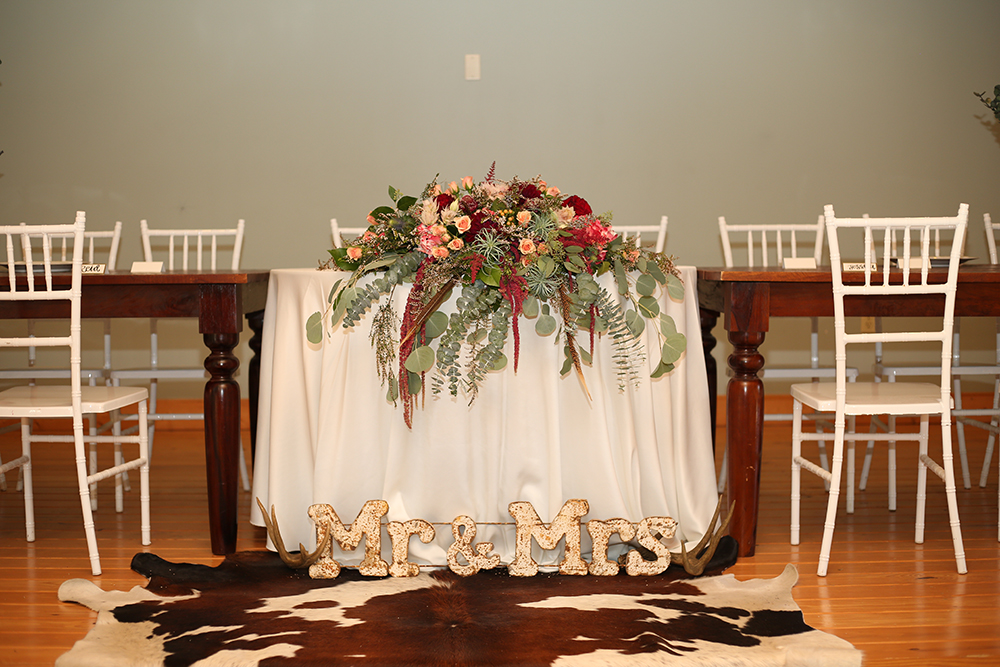wedding reception decor - rustic