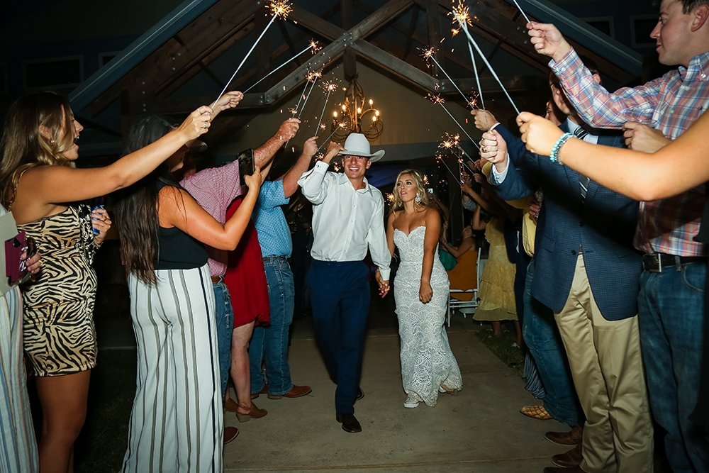 grand exit - sparklers - wedding sendoff