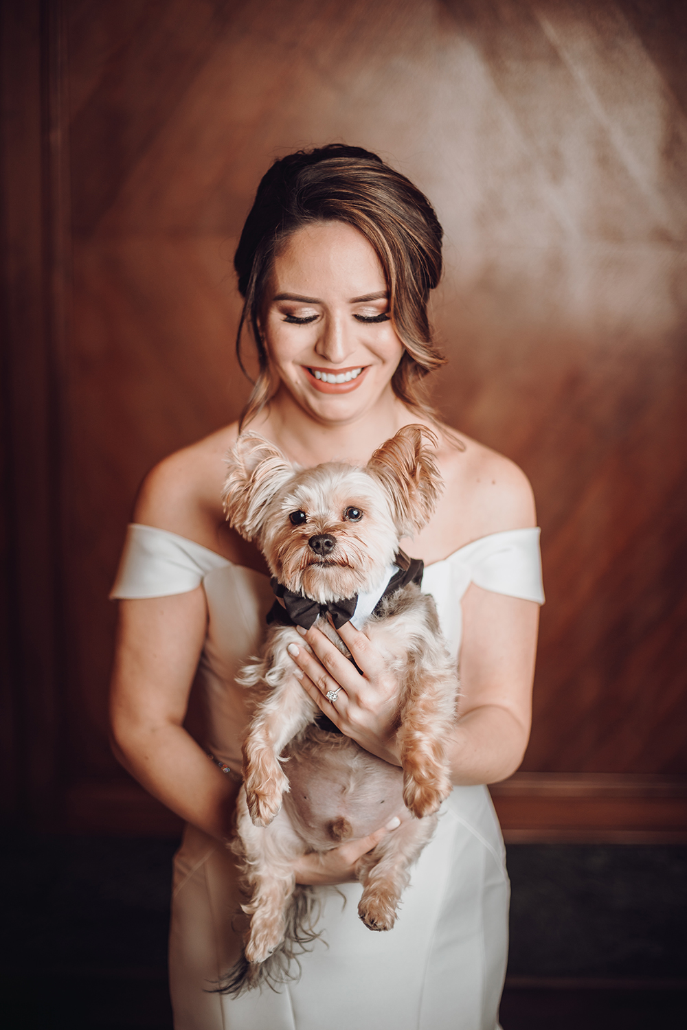 bridal portrait - pets in weddings