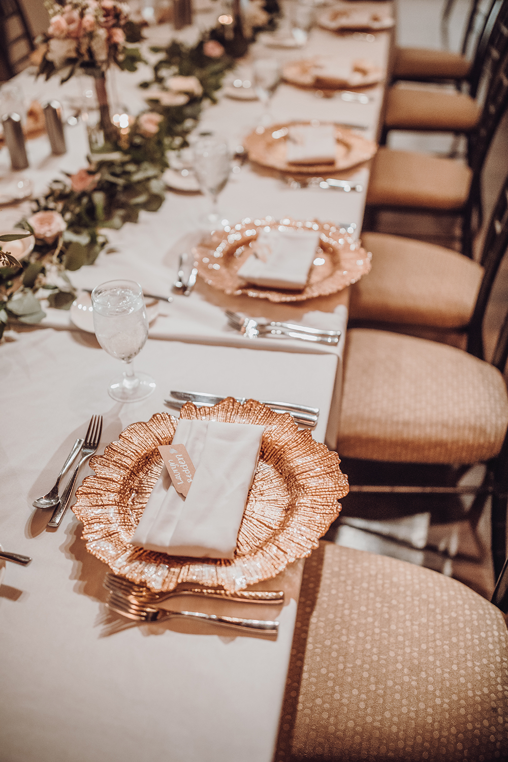 wedding reception decor - tablescape