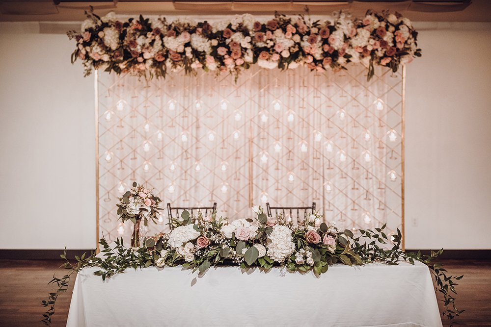 bride and groom table - reception decor - wedding