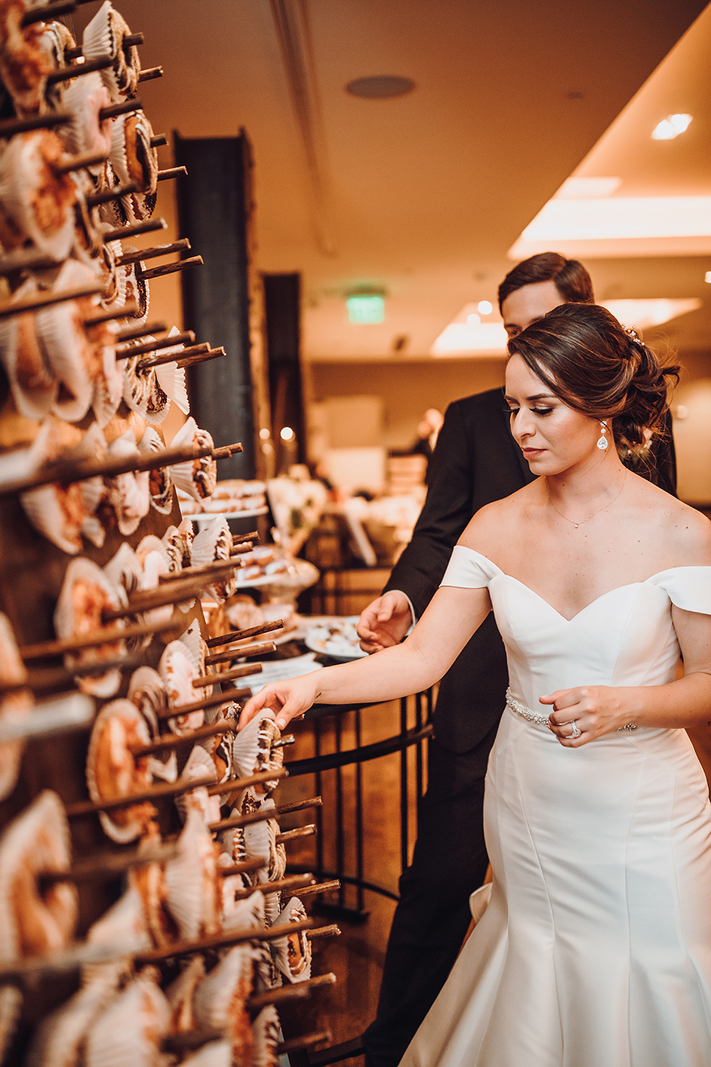 donut wall - wedding food trend