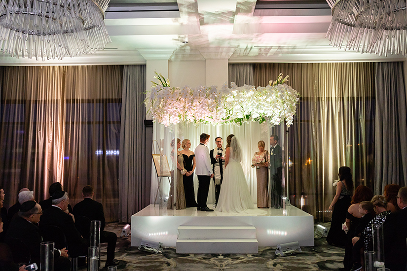 wedding ceremony decor - chuppah - post oak hotel
