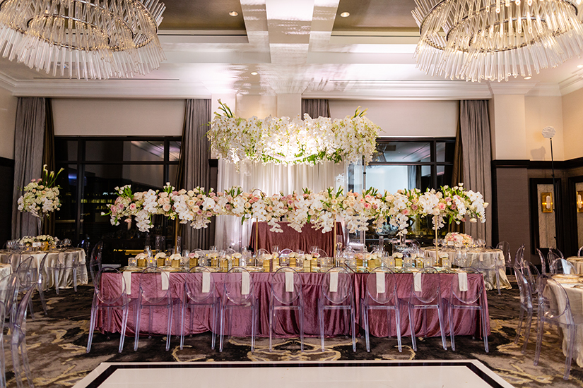 wedding reception decor - ballroom - plants n petals - post oak hotel