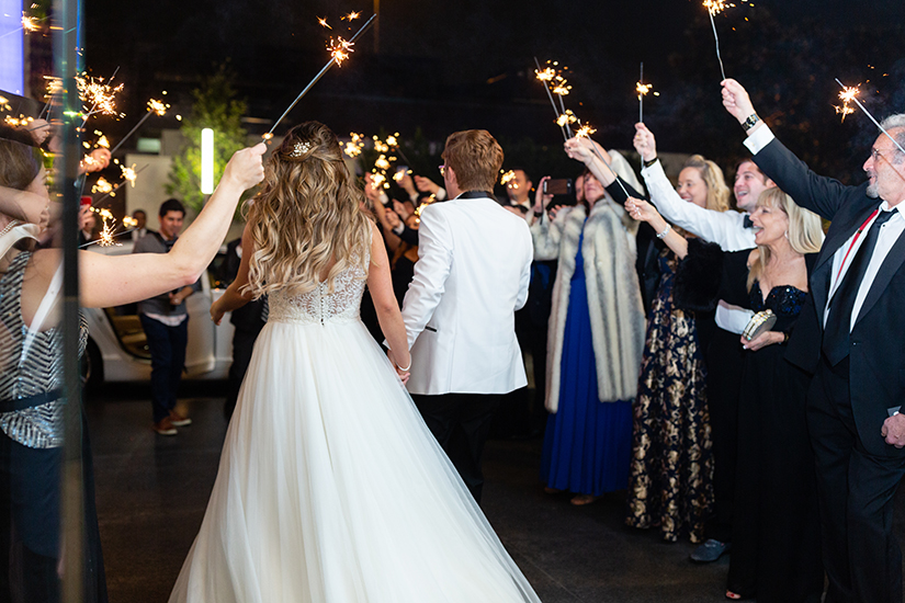 Wedding exit - sendoff - sparklers