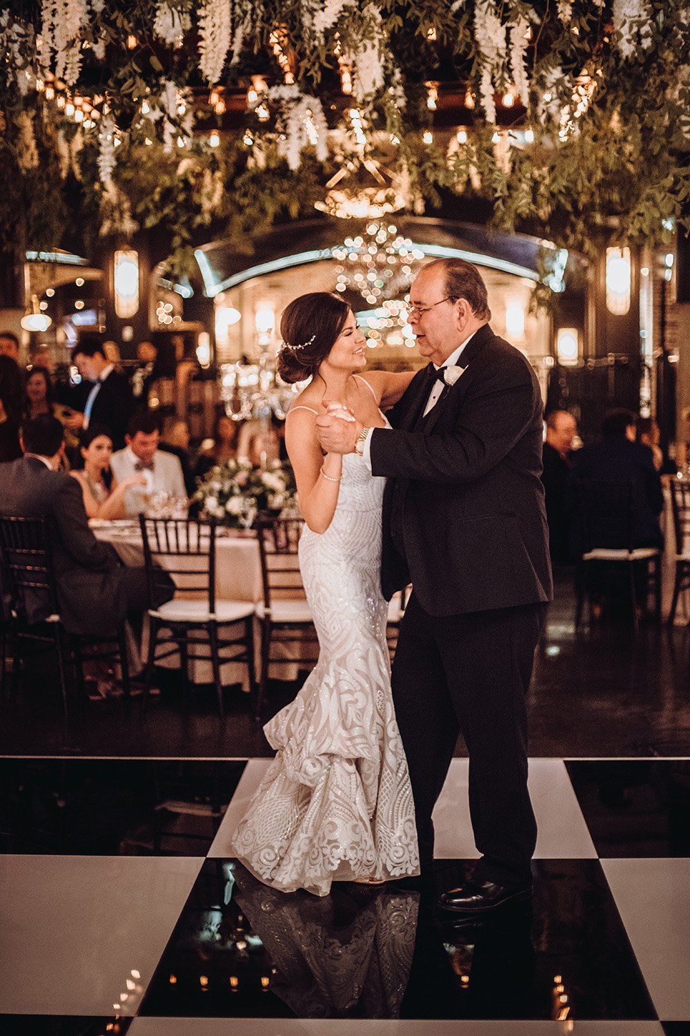 father daughter dance inspiration at wedding reception