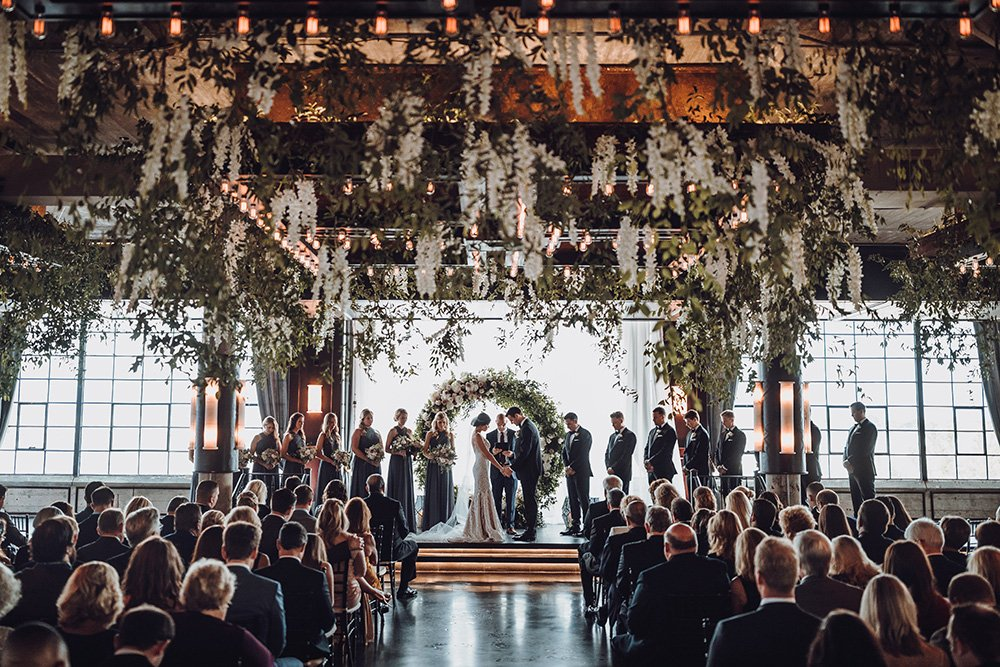 floral ceiling - Art Deco touches - ceremony at the astorian