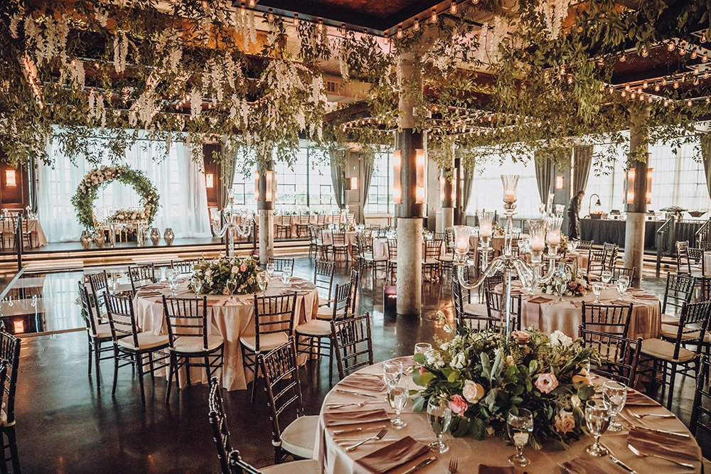 floral ceiling - Art Deco touches - reception at the astorian