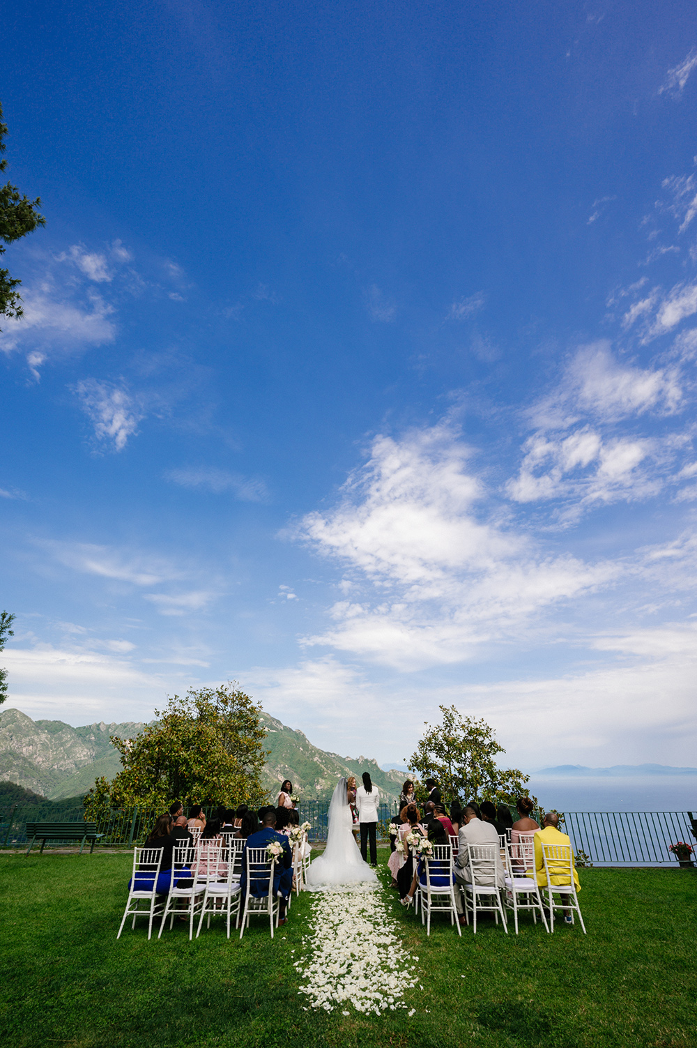 garden wedding ceremony - outdoor - amalfi coast - intimate