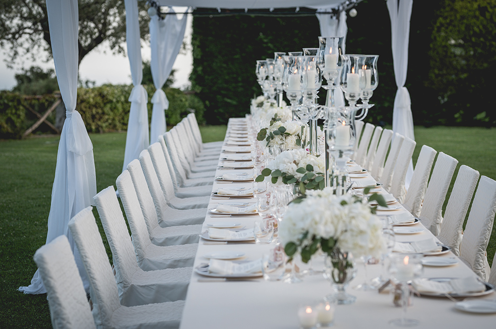 outdoor wedding reception - classic - elegant
