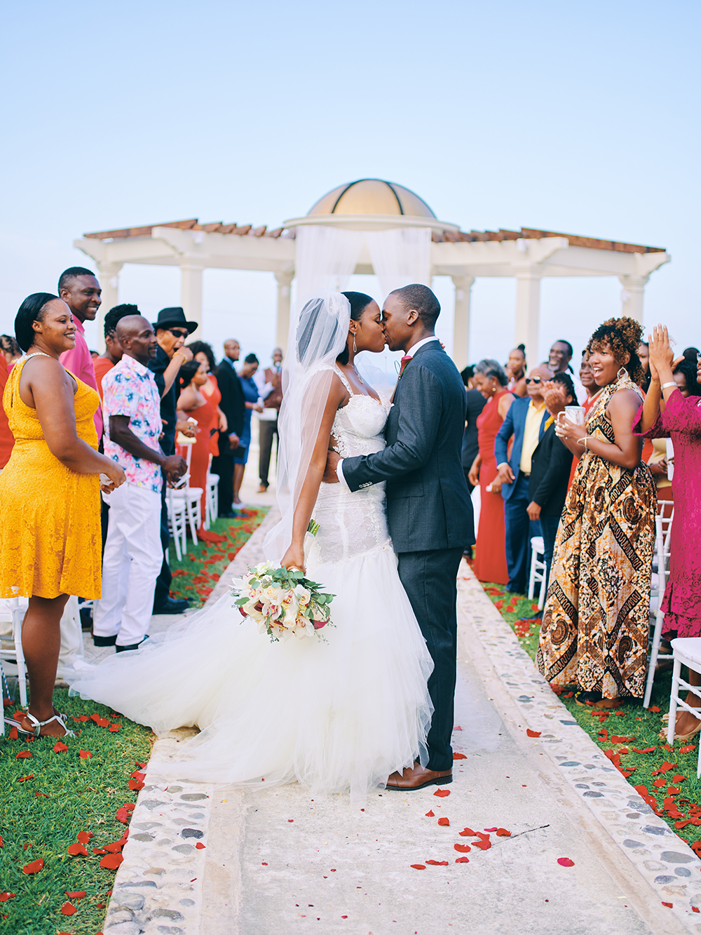 wedding ceremony - bride - groom - outdoors - Jamaica