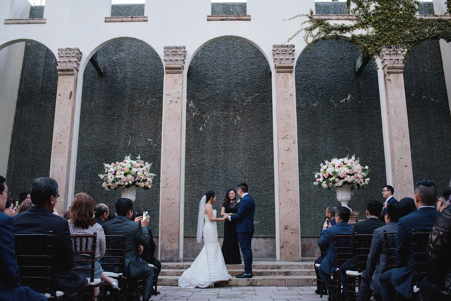 water wall - houston wedding ceremony backdrop