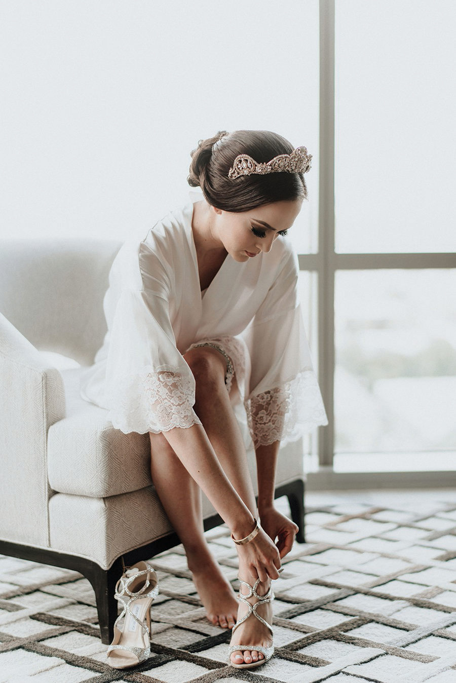 bridal portrait, shoes, houston wedding