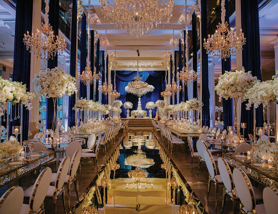 decor, mirrored floor, columns, high ceilings, best floral, houston wedding