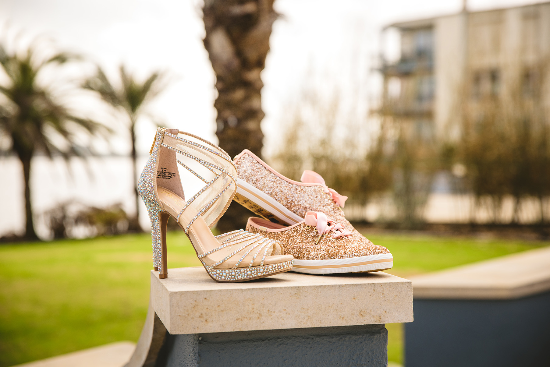 houston wedding, heels, kate spade shoes, glitter, sprakle, pink
