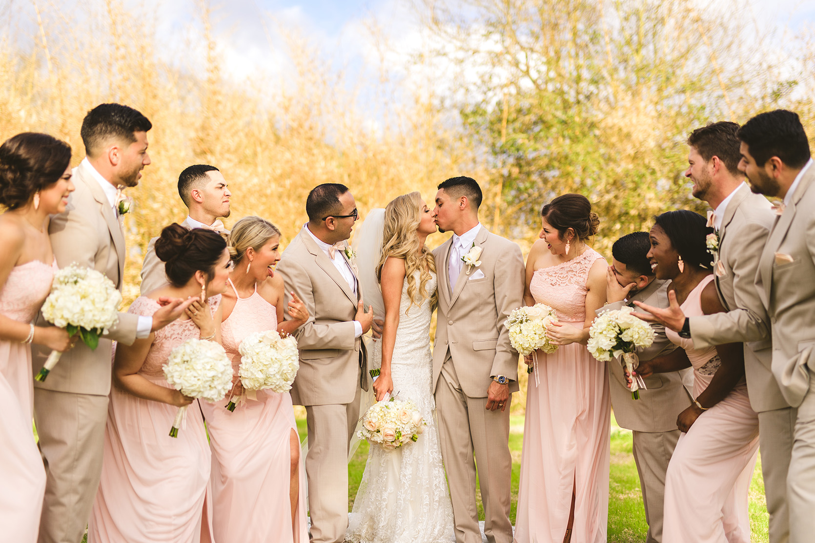 houston wedding, bridal party