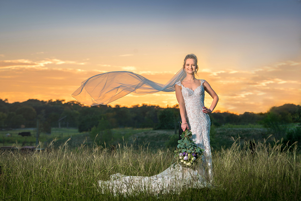sunset wedding - ranch wedding