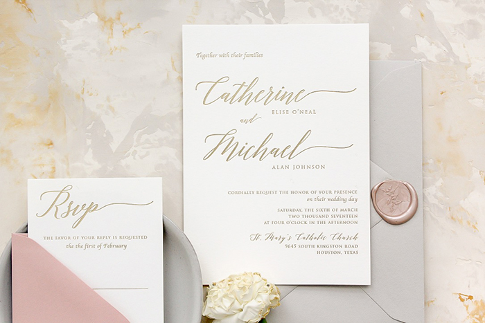 Memory Lane Paperie - Wedding Invitations and Calligraphy Houston